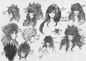 OC's Saint Seiya and Golds Saints Sketchs~ by A-Kitty-Lion