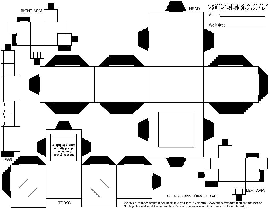 Yellogre 7 2 Cubee BLANK Template Regular By Njr75003
