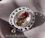 RedxWhite Brooch for Japan