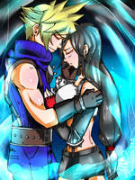 Tifa and Cloud by daninja293