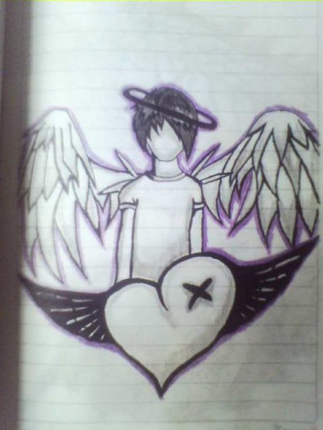 Emo Angel Lay Outs Emo Angel Cartoon