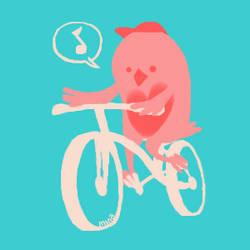 owl on a bike by minakim