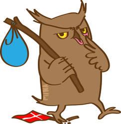 unhappy owl by minakim