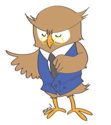 lawyer owl by minakim