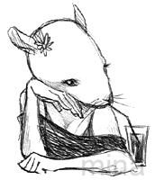 mouse with drink. by minakim