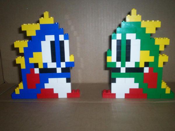 lego bubble bobble by myrddin-84