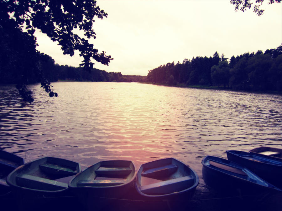 boats at the lake by Dietrich444