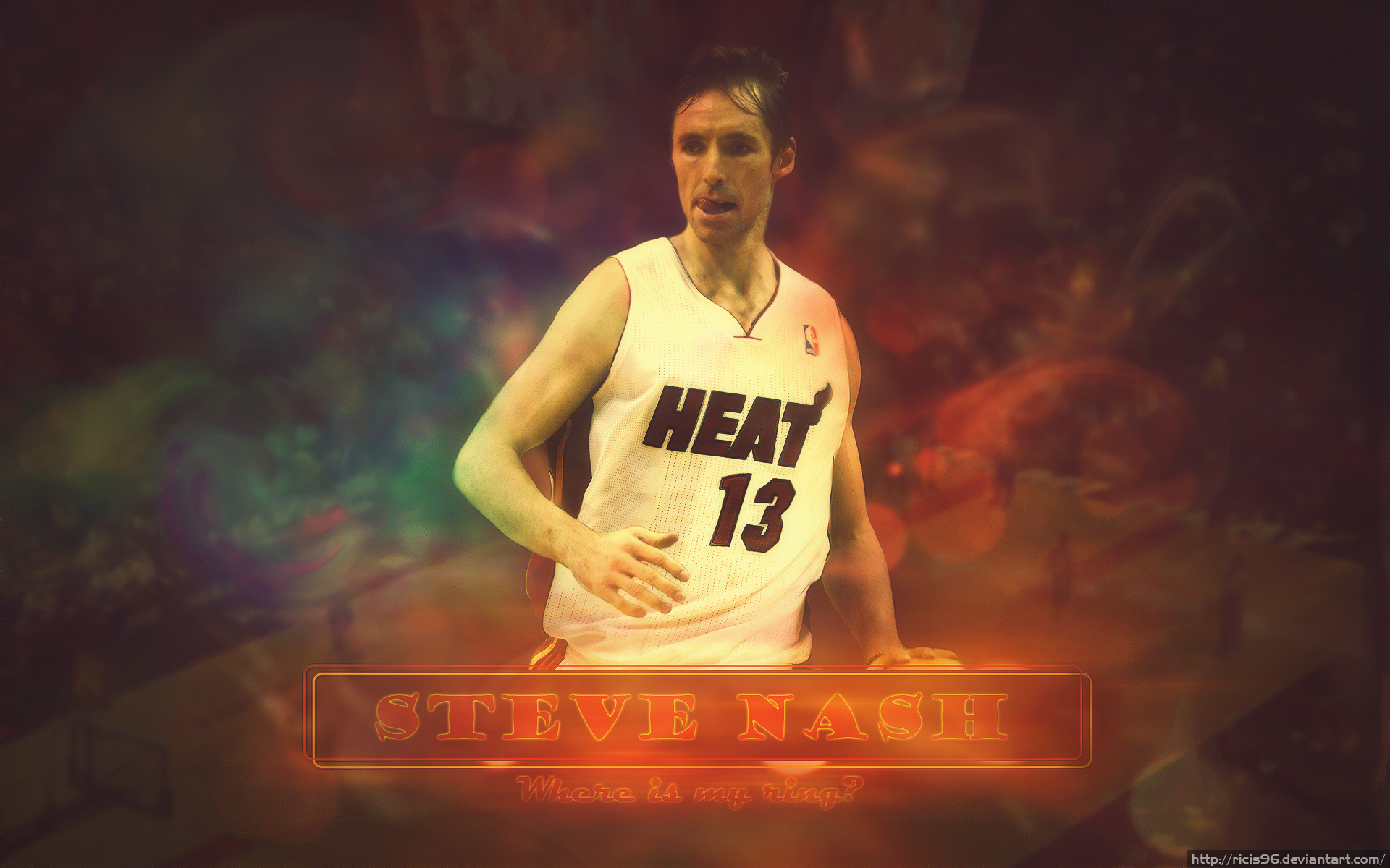 Steve Nash in Miami Heat by ricis96