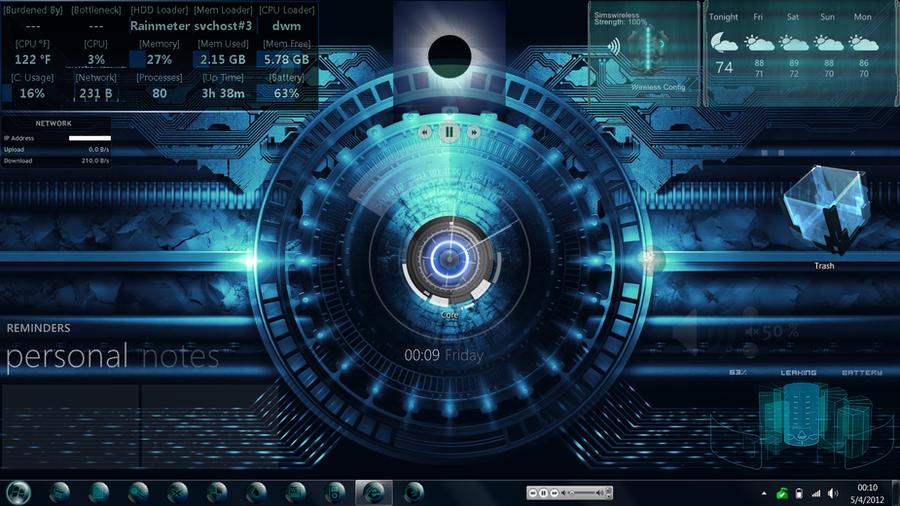 rainmeter desktop by bacanalia73 on deviantart