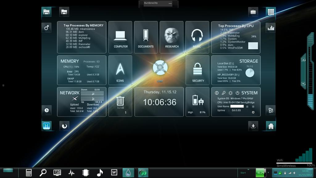 HeadsUp Desktop by Bacanalia73