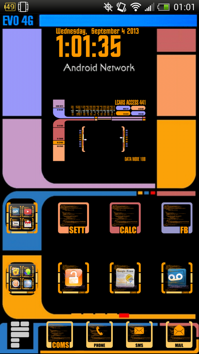 Lcars android home screen