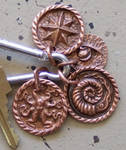 Hand Repoussed Copper key chain/necklace pendent