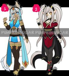 Theme Adopts - Dragon Ladies [CLOSED] by PumpkinSugar