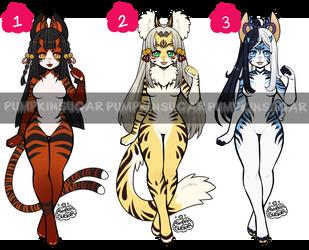 Theme Adopts - Oni Tigers Part 1 [CLOSED] by PumpkinSugar