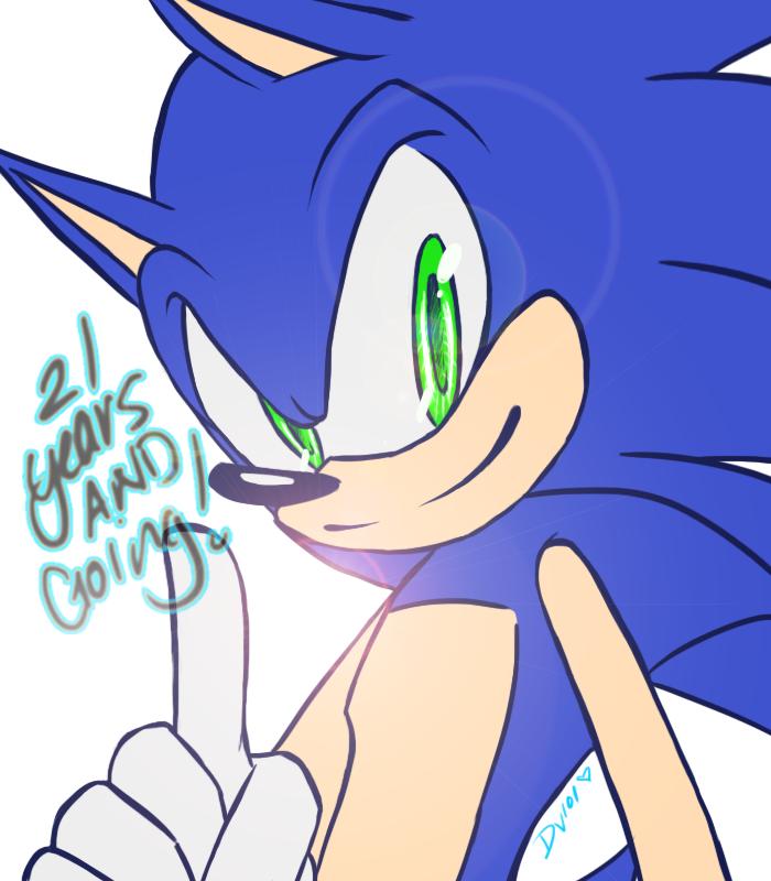 Happy Birthday, Sonic the Hedgehog by DawnValentine101