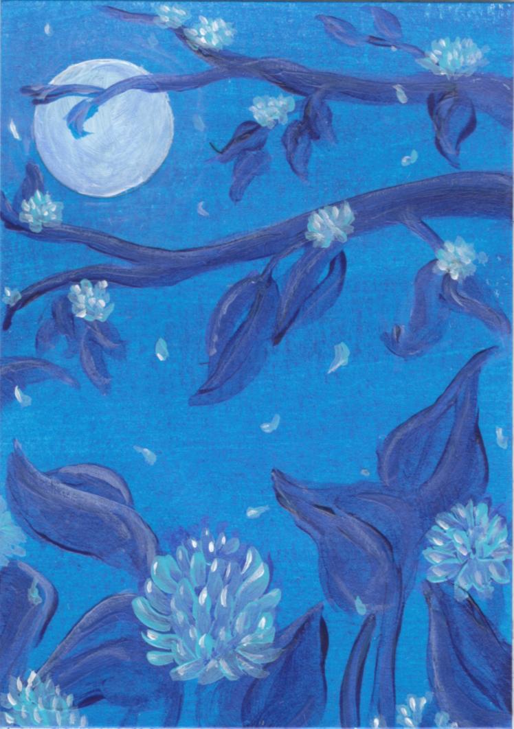 Fullmoon Rising Blue Moon Flowers By Kaos Ninja9 On Deviantart