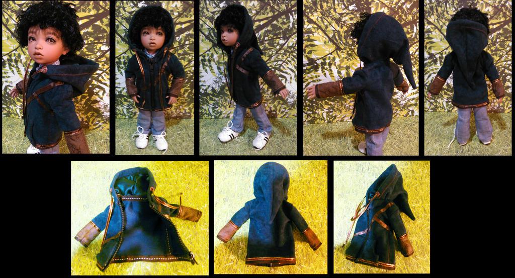 BJD outfit- Link Hoodie by Kaos-Ninja9