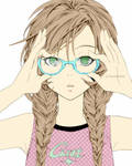 Sweet Girl with glasses :p