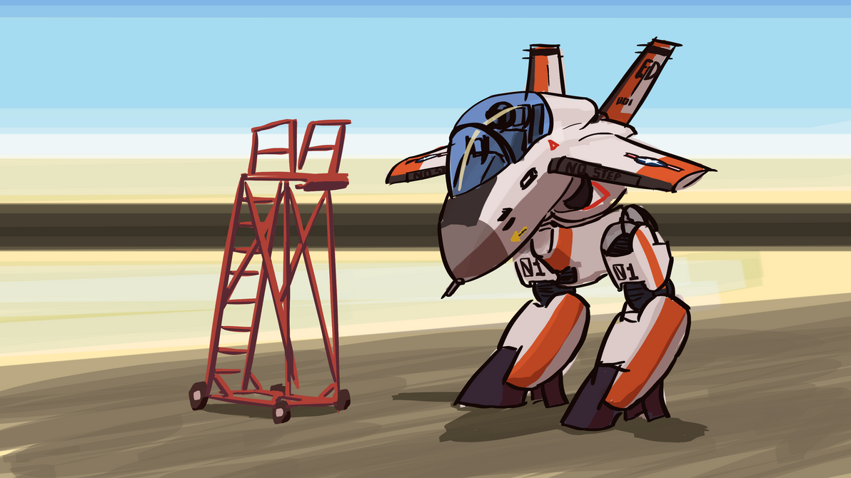 Chibi Mech Sketch by Malnu123