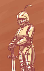 Knight Sketch by Malnu123