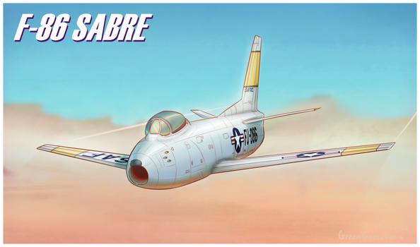 F-86 Digital Painting