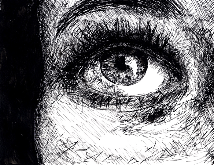 Eye pen and ink by loftio