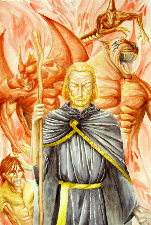 Necromancer and his fellows by Bbuiu
