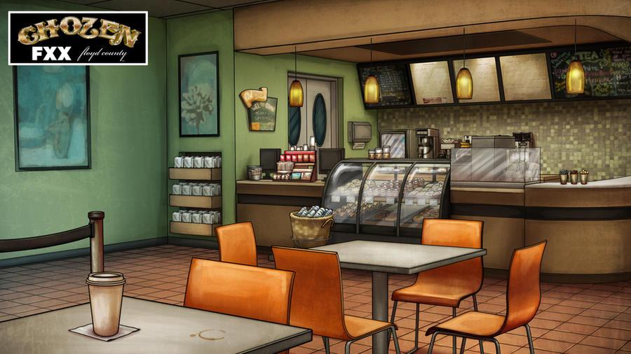 Animated Restaurant Kitchen Background