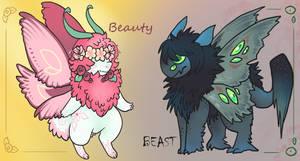 Beauty and the Beast - FLATSALE (1/2 Open)