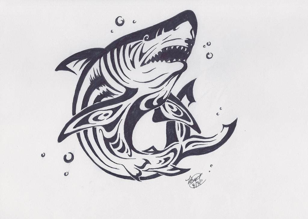 It's just a graphic of Irresistible Shark Tattoo Drawing