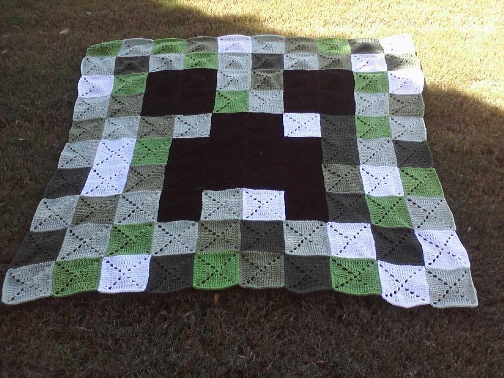 Minecraft Crochet Afghan Pattern Free : Cochet Creeper Blanket by LilliM00 on DeviantArt