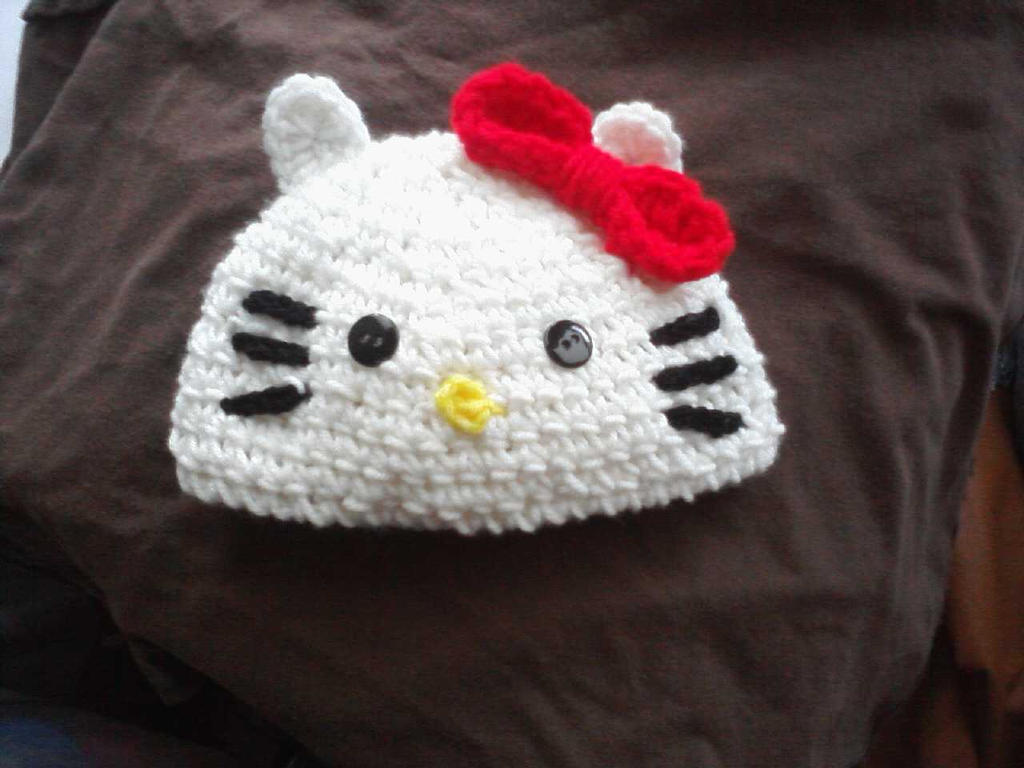 Crochet Hello Kitty Hat By Lillim00 On Deviantart