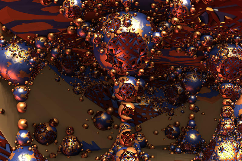 Hanging Spheres Of Asymmetrical Design by Geonetique