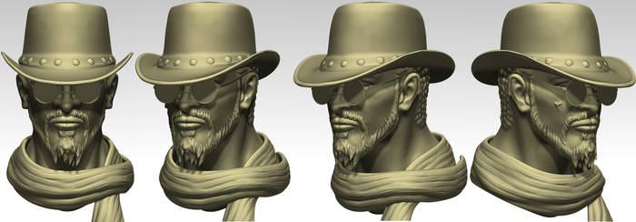 Django zbrush sculpt