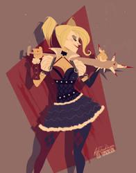 Arkham Knight Harley by felitomkinson