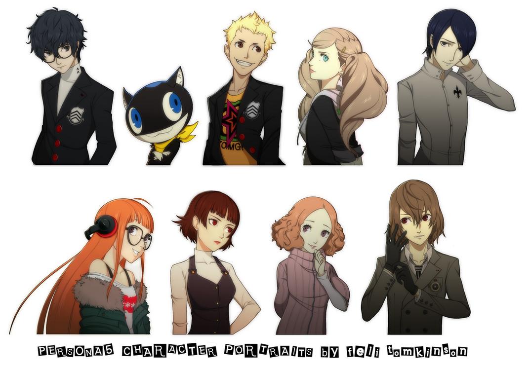 Persona 5 Character Portraits by felitomkinson