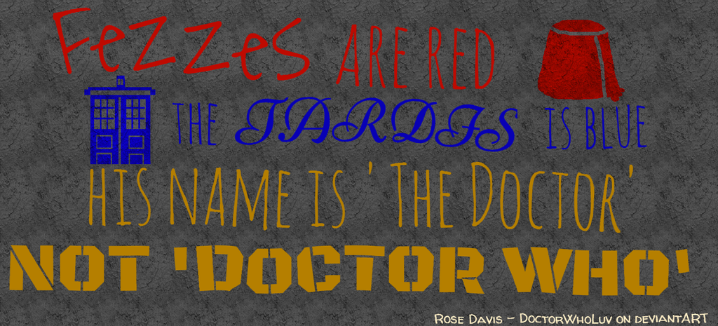 His Name is 'The Doctor' by DoctorWhoLuv
