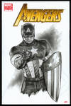 Captain America AVENGERS Sketch Cover