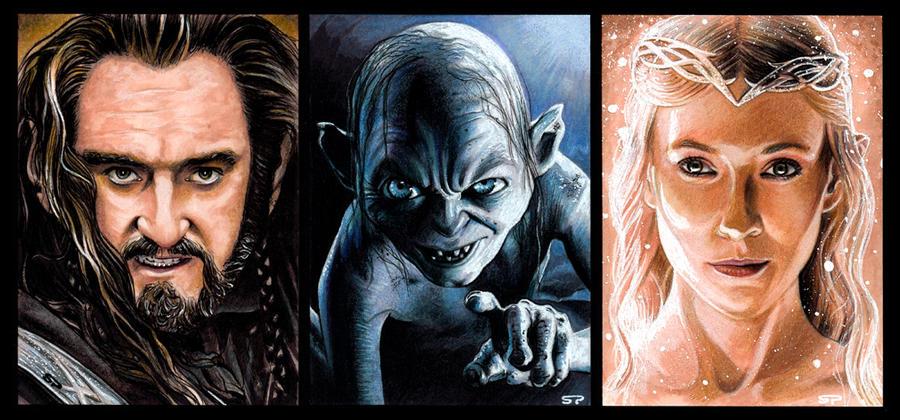 Hobbit Sketch Cards by S-von-P