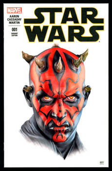 DARTH MAUL SKETCH COVER