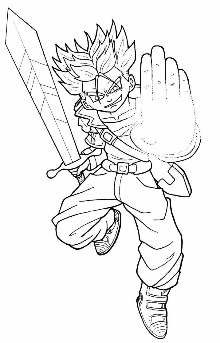 dragon ball z coloring pages trunks dbz | DBZ Super Saiyan Trunks by AiChibiAiLines on DeviantArt