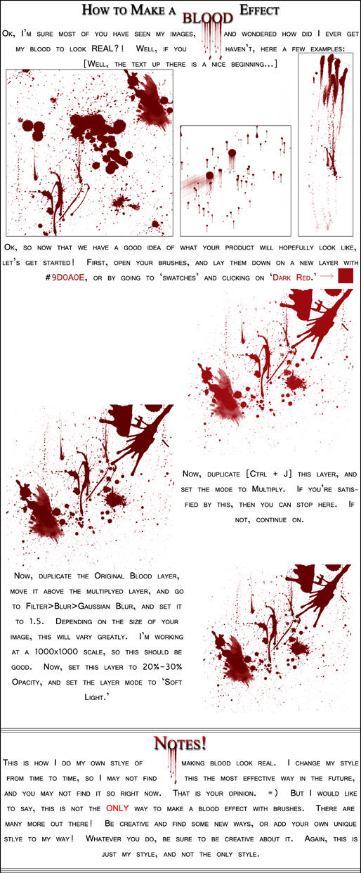 Blood Effects in Photoshop