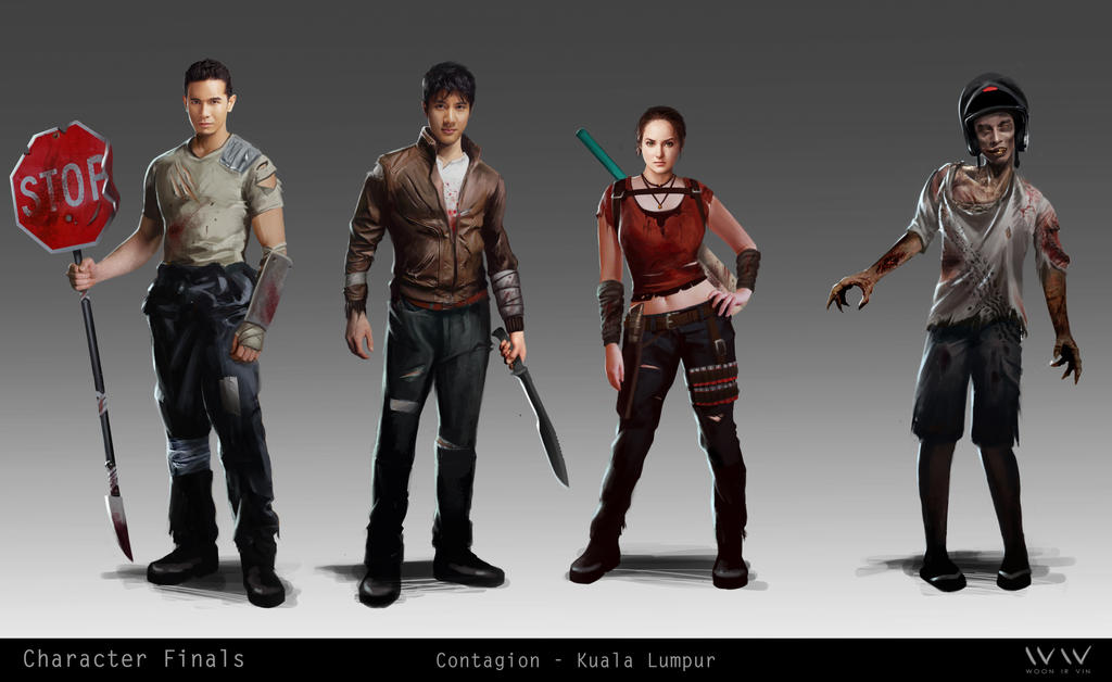 Contagion - Kuala Lupur  :  Character Lineup by leonwoon
