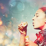 bubble blues. by gloeckchen