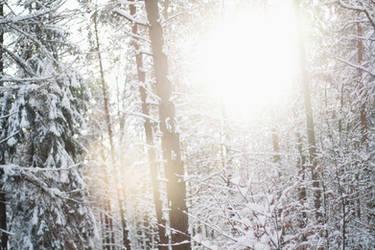 snow, light - wallpaper by gloeckchen