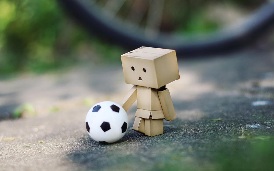 Danbo - Football - Wallpaper. by gloeckchen