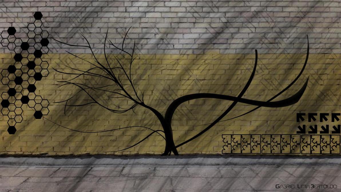 Street Wall By TechnoDaydreamer