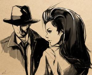 noir sketch