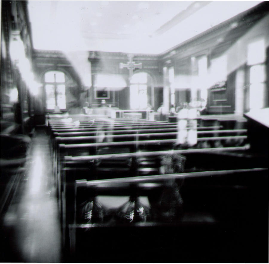 Holga Black and White CHapel by newjuventud