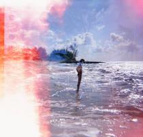 Exposed Diana F+ Beach Shot by newjuventud
